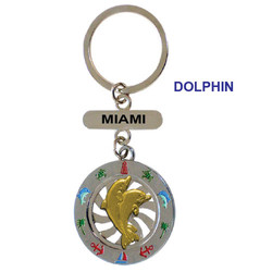 DOLPHIN SPINNING  KEY CHAIN