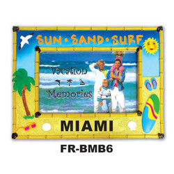 Sun, Sand & Surf Bamboo Picture Frame