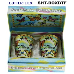 BUTTERFLIES SOUVENIR SHOT GLASS GIFT SET