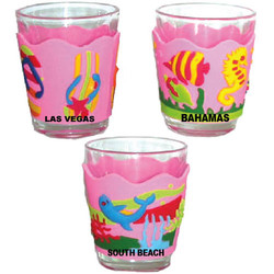 PINK PVC SHOT GLASSES