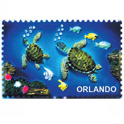 TURTLE CERAMIC STAMP MAGNET