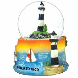 LIGHTHOUSE WATER GLOBE MAGNETS
