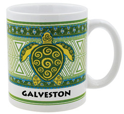 Gift Boxed Souvenir Mugs Turtle Galveston