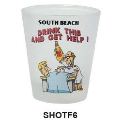 DRINK & GET HELP, FROSTED SHOT GLASS