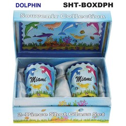 DOLPHIN SOUVENIR SHOT GLASS GIFT SET