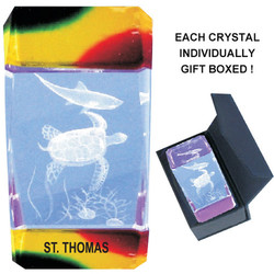 Turtle Crystal Paperweight