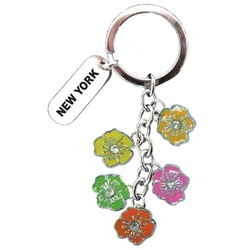 DANGLING HIBISCUS KEYCHAIN