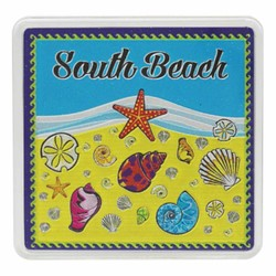 South Beach SEA SHELLS Acrylic Foil Magnets