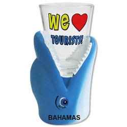 WE LOVE TOURISTS. Dolphin Shot Glass