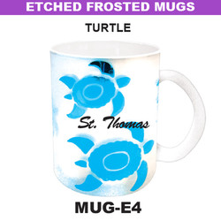 TURTLE Etched Frosted Mug
