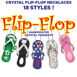 Crystal Flip-Flop Necklaces