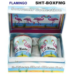 FLAMINGO SOUVENIR SHOT GLASS GIFT SET