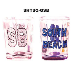 Florida South Beach SQUARE Shot Glass