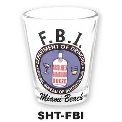 FBI SHOT GLASS