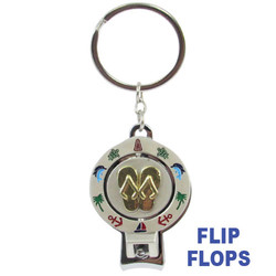 FLIP FLOP SPINNER NAIL CLIPPER KEYCHAINS