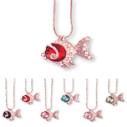 Crystal Fish Necklaces