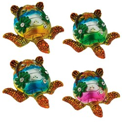 Pearlized Turtle Figurines