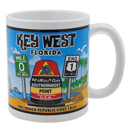 Gift Boxed Souvenir Mugs Key West