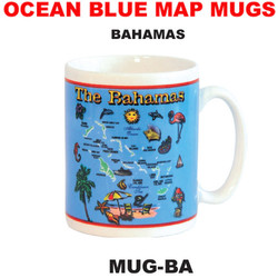 Bahamas Ocean Blue Map Mug