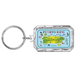 PUERTO RICO MAP KEYCHAIN