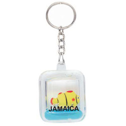 KEY CHAIN  FLOATING RECTANGLE