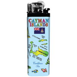 Cayman Islands Map Lighters