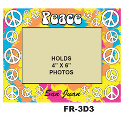 Peace Sign 3D PHOTO FRAME