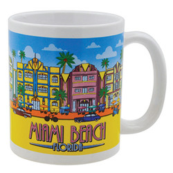Gift Boxed Souvenir Mugs Miami Beach