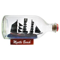 "Ships In A Bottle | Size: 3.5""  x  7"""