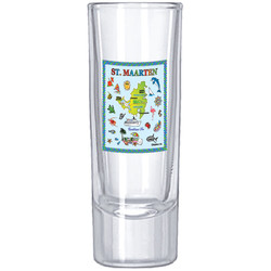 St. Maarten Map SHOT GLASS SHOOTER