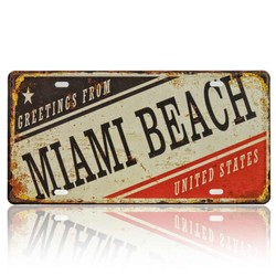 Greetings From Miami Beach, Souvenir License Plate