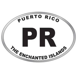 Puerto Rico OVAL MAGNET