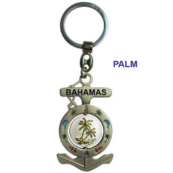 PALM ANCHOR SPINNER KEYCHAIN