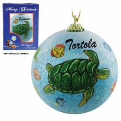 TURTLE FROSTED CHRISTMAS ORNAMENTS
