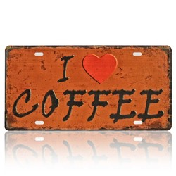 I Love Coffee, Souvenir License Plate