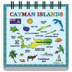 Cayman Islands Map Notepad Magnet
