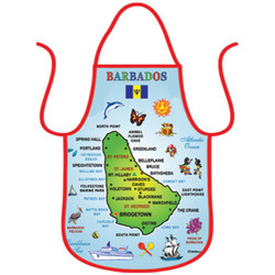 Barbados Map Cotton Aprons