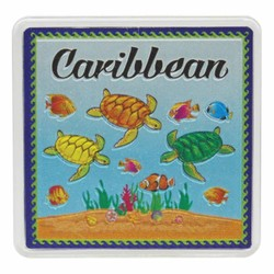 The Caribbean TURTLES Acrylic Foil Magnets