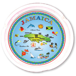 Jamaica Map Ceramic Ashtray