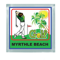 GOLF SQUARE MAGNET