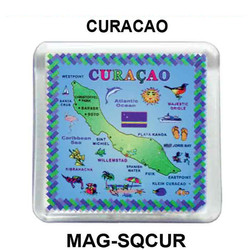 CURACAO MAP SQUARE MAGNET