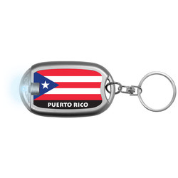 PUERTO RICO FLAG Flaslight Keychain