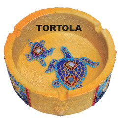 Turtles Mosaic Sandstone Ashtray