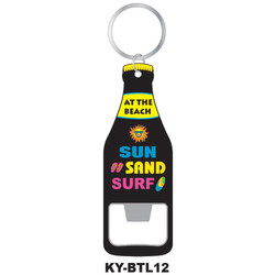 AT THE BEACH KEYCHAIN BOTTLE OPENER