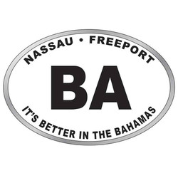 BAHAMAS OVAL MAGNET