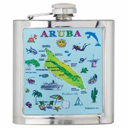ARUBA MAP Foil Flask
