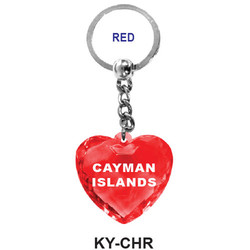 CRYSTAL RED HEART Keychain