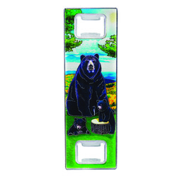 Metallic Double Bottle Opener Black Bear