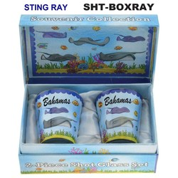 STINGRAY SOUVENIR SHOT GLASS GIFT SET