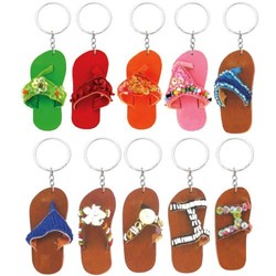 LEATHER FLI FLOP KEYCHAINS